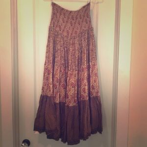 Free People convertible maxi skirt/dress